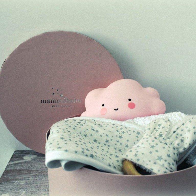 Caja redonda rosa Maminébaba
