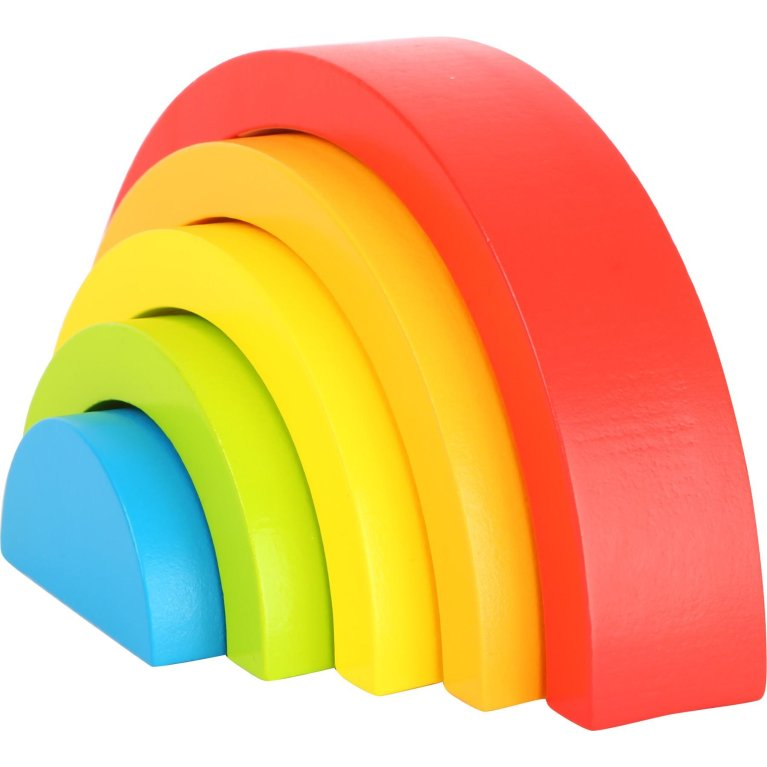 """Juguete Montessori bloques de madera """"Arco iris"""""""