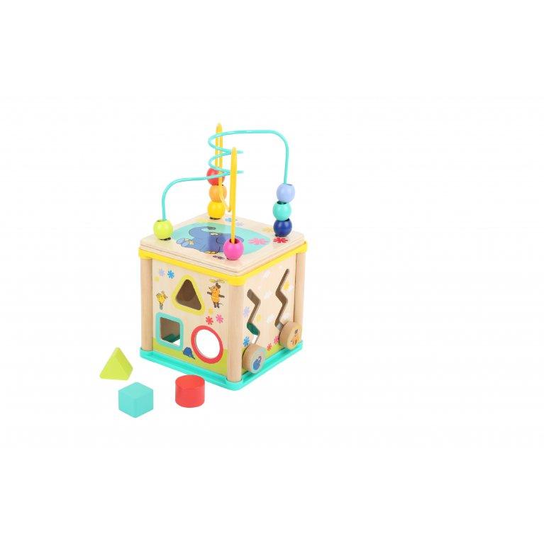 """Juguete para bebé cubo motriz """"El ratón y el elefante"""""""