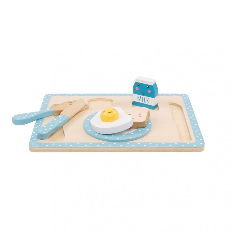 "Juguete de madera Montessori ""Set desayuno"""