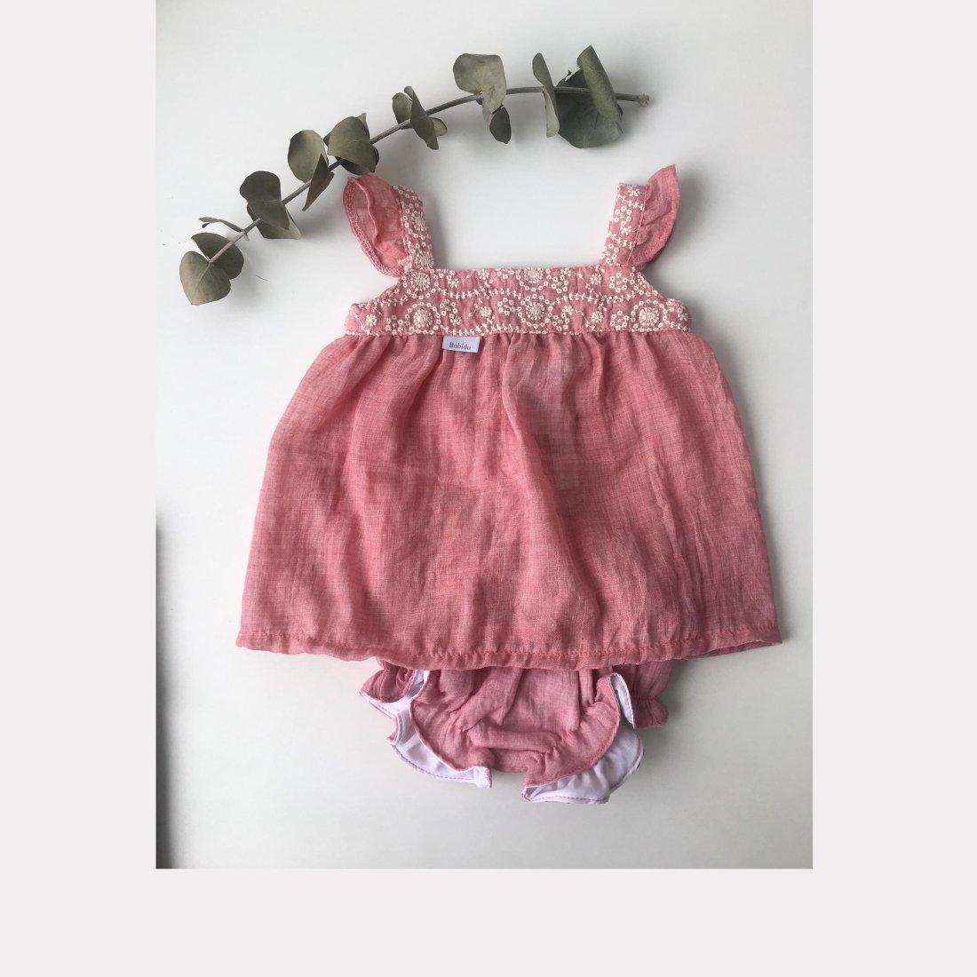 a1d3921b8 Conjunto bebé niña bordado - Babidú