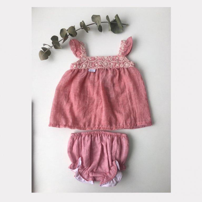 Conjunto bebé niña bordado - Babidú