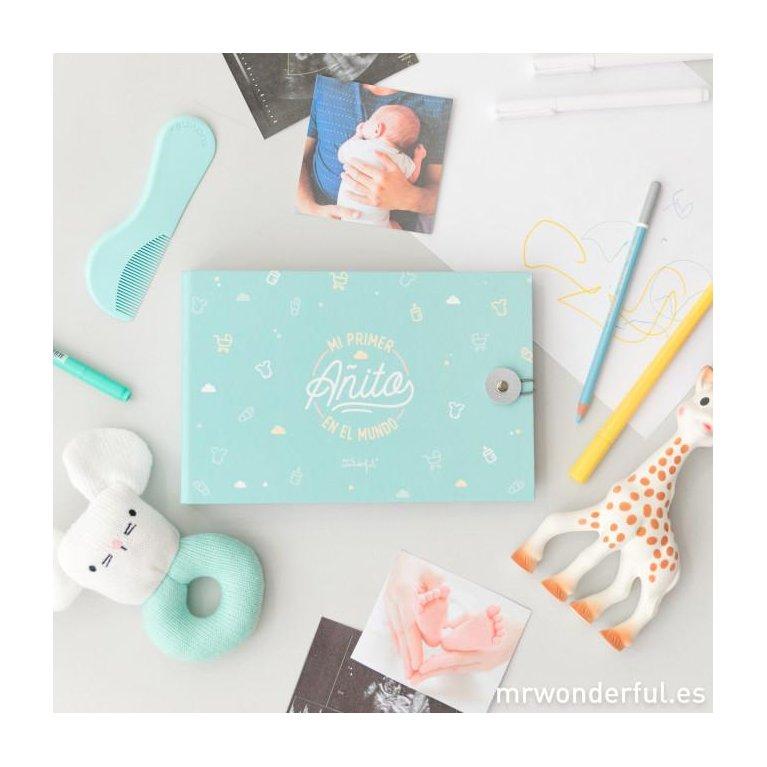 Álbum para bebé '¡Hola mundo! Mi primer añito' Mr Wonderful