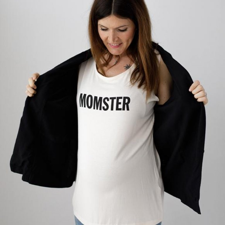 """Camiseta para embarazadas """"Momster"""" de Dressmadre"""