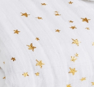 Blanco y estrellas doradas